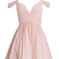 Homecoming Dress,Pink A-line Sweetheart Ruched Chiffon Short  Prom Dress