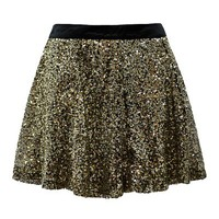 SKATER SKIRT IN SEQUIN