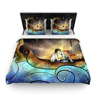 "Mandie Manzano ""Something About Her"" Mermaid Woven Duvet Cover"
