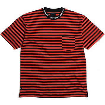 Foreigner Striped T-Shirt Red