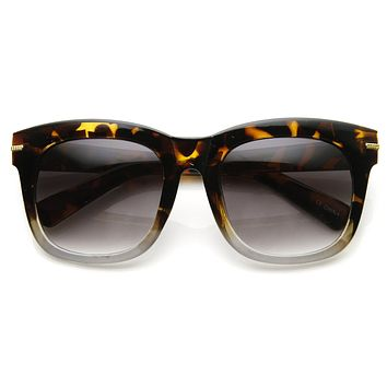 Womens Oversize Bold Frame Modern Horned Rim Fashion Sunglasses 9301