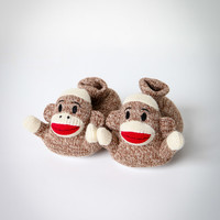 'Sock Monkey' Toddler Slippers