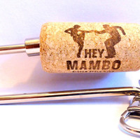 Purse Charm - Dance Gift for Her - Cork Key Hanger - Wine Purse Jewelry - Mambo Keychain - For Teacher