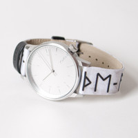 Winston Print Series Rune Watch