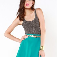 A'GACI Double Scoop Lurex Tank - New Arrivals