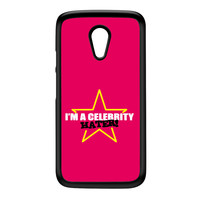 Celebrity Hater Black Hard Plastic Case for Moto G2 by Chargrilled