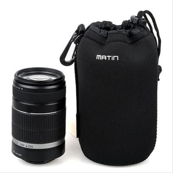 1pc Matin Neoprene waterproof Soft Camera Lens Pouch bag Case Size- XL/L/M/S
