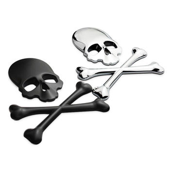 Motor Bike Enthusiast > Brand New Metal 3D Skull Sticker Auto Or Motorcycle Emblem Decal For Jacket Helmets Ect...