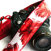 Floral Camera Strap. dSLR Camera Strap. Canon Camera Strap. Nikon Camera Strap. Women Accessories.