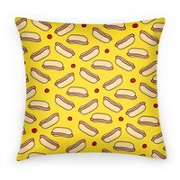 Yellow Hot Dog Pattern