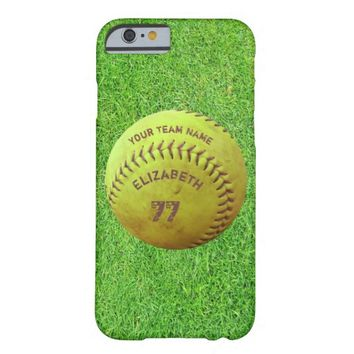 Softball Dirty Name Team Number Ball Phone Case Barely There iPhone 6 Case