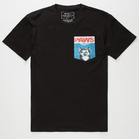 RIOT SOCIETY Paws Mens Pocket Tee | Pocket Tees