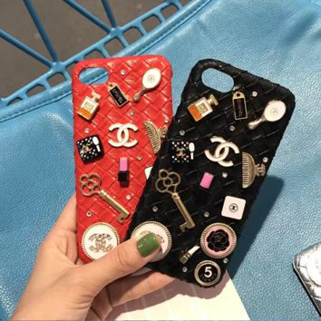 """Chanel"" iPhone case 4.7 5.5 6plus 7 red Color diamond"