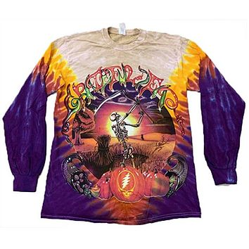 Grateful Dead Long Sleeve T-Shirt Harvester Tie Dye Tee