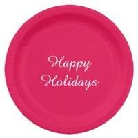 Holiday Red Paper Plates by Janz 9 inch