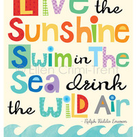 Live in the Sunshine Swim in the Sea- Kids wall decor