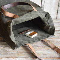 The Marlowe Carryall: Moss by Peg and Awl