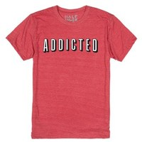 Addicted-Unisex Heather Red T-Shirt