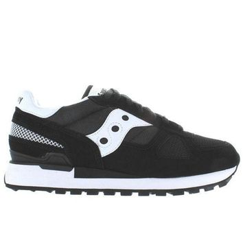 Saucony Shadow Original   Black/white Suede/nylon Sneaker