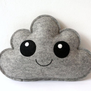 Grey Cloud Pillow, Cute Cloud, Cloud Softie, Baby Gift, New Baby, Shower Gift, Nursery decor, Baby Decor, Dream Pillow, Baby Soft Toy