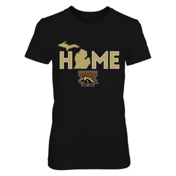Home - Western Michigan Broncos - T-Shirt - Officially Licensed Fashion Sports Apparel
