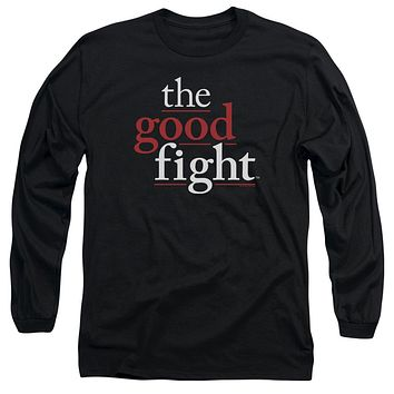 The Good Fight Long Sleeve T-Shirt Logo Black Tee