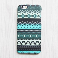 Green Black Aztec Pattern iPhone XR Case iPhone XS Max plus Ethnic iPhone 8 SE  Case Native Galaxy S8 S6  Case 077