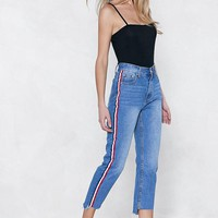 You're Absolutely Stripe High-waisted Jeans