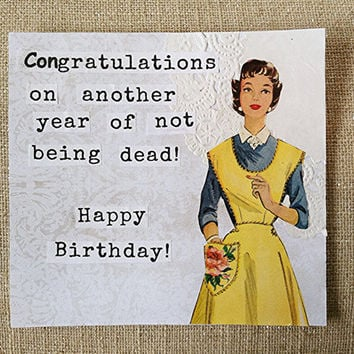 Funny Birthday Card - Vintage Birthday- Handmade - Greeting Card -Happy Birthday - Stampin up -