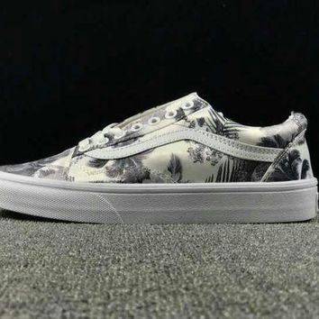 CREYNW6 Summer Newest Vans Floral Pattern Old Skool Sneaker Casual Shoes