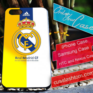 Exclusive Real Madrid iPhone for 4 5 5c 6 Plus Case, Samsung Galaxy for S3 S4 S5 Note 3 4 Case, iPod for 4 5 Case, HtC One M7 M8
