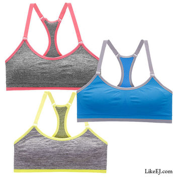 Molded cups for support Racerback design Sports Bra Yoga Top workout #5534