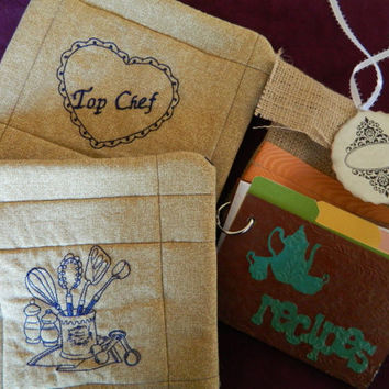 Recipe Book Gift Set for the Top Chef by GrowingPhasesFarm on Etsy
