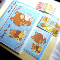 A Simple life, cute mouse squirrel letter writing set, kawaii stationery, id1360738, scrapbooking, pen pal, back to school, Japan