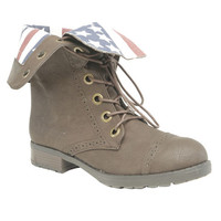 American Flag Foldover Boot - WetSeal