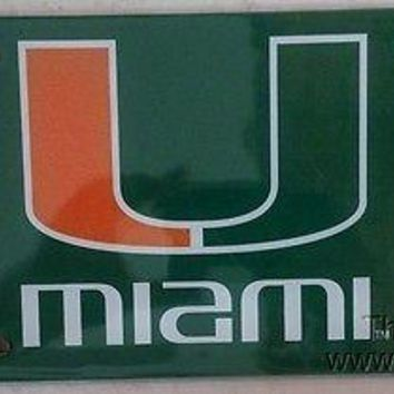 Miami Hurricanes PRINTED Deluxe Acrylic Laser License Plate Tag University of