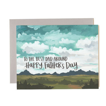 ONE CANOE TWO FATHER'S DAY LANDSCAPE CARD