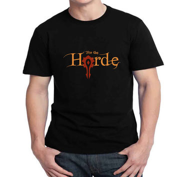 For The Horde Mens T-shirt Black and White