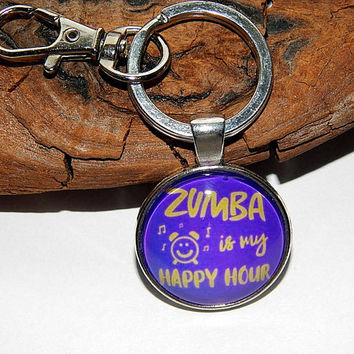 Zumba is my happy hour, zumba pendant necklace, Zumba keychain, Zumba simbol, Zumba emblem, Zumba patch, Zumba Fitness jewelry christmas