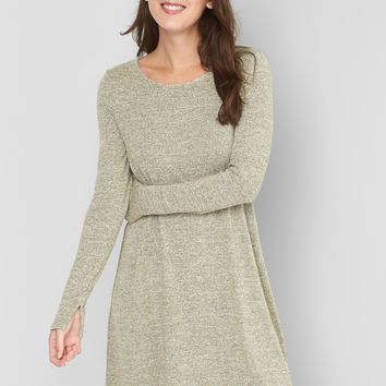 Long sleeve metallic swing dress | Gap