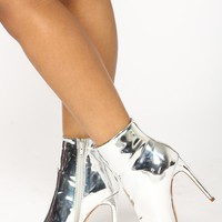 Out Shine Them All Bootie - Silver