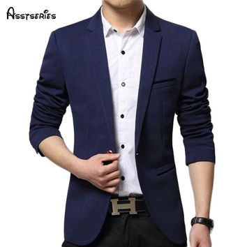 Free shipping Mens Korean slim fit fashion cotton blazer Suit Jacket  plus size M to 5XL Male blazers Mens coat 60hfx