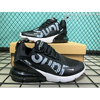 KU-YOU N002 Nike Air Max 270 Suprmen Off White Flyknit Breathable Running Shoes Black