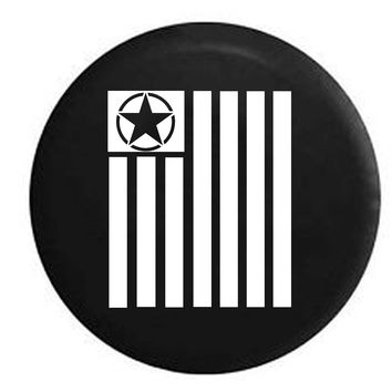 Tactical Military Star Vertical Freedom Flag RV Camper Jeep Spare Tire Cover