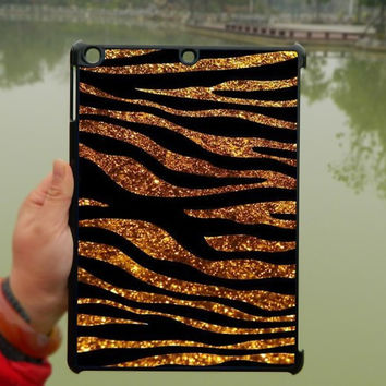 Gold Zebra Glitter Black Stripes iPad Case,iPad mini Case,iPad Air Case,iPad 3 Case,iPad 4 Case,ipad case,ipad cover, ipad mini cover ipad air,iPad 2/3/4-178