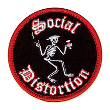 Social Distortion Men's Embroidered Patch Black