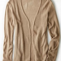 AEO Women's Don't Ask Why Waffle Knit Cardigan