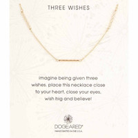 Dogeared Three Wishes Triple Tube Station Necklace - Multiple Colors