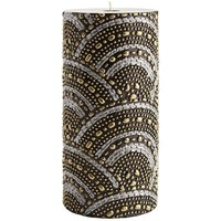 Black & Silver Beaded Pillar