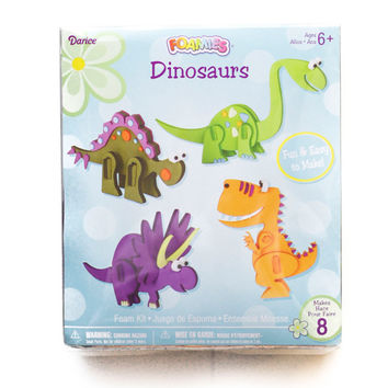 DIY 3-D Foam Dinosaur Activity Set, Makes 8